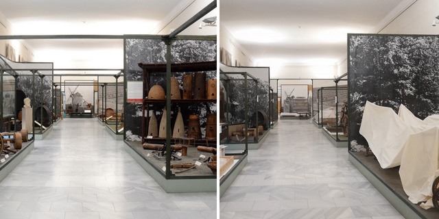 Az állandó kiállítás egyik terme nyitva tartás alatt és ma