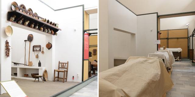 Tiszta szoba az állandó kiállításban anno és most