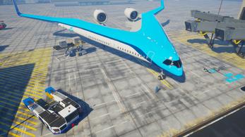 Futurisztikus, V alakú repülő mögé állt be a KLM