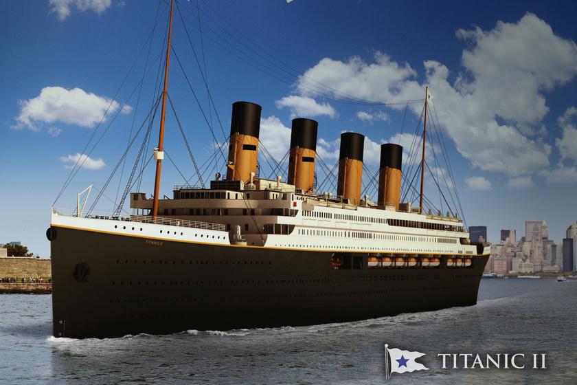 A Blue Star Line 3D-terve a Titanic II-ről.
