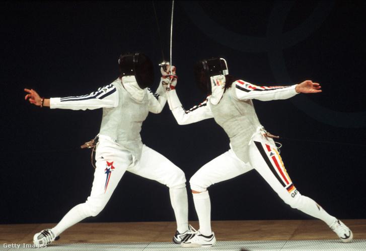 Monika Weber és amerikai ellenfele a Sydney-i olimpián 2000-ben.