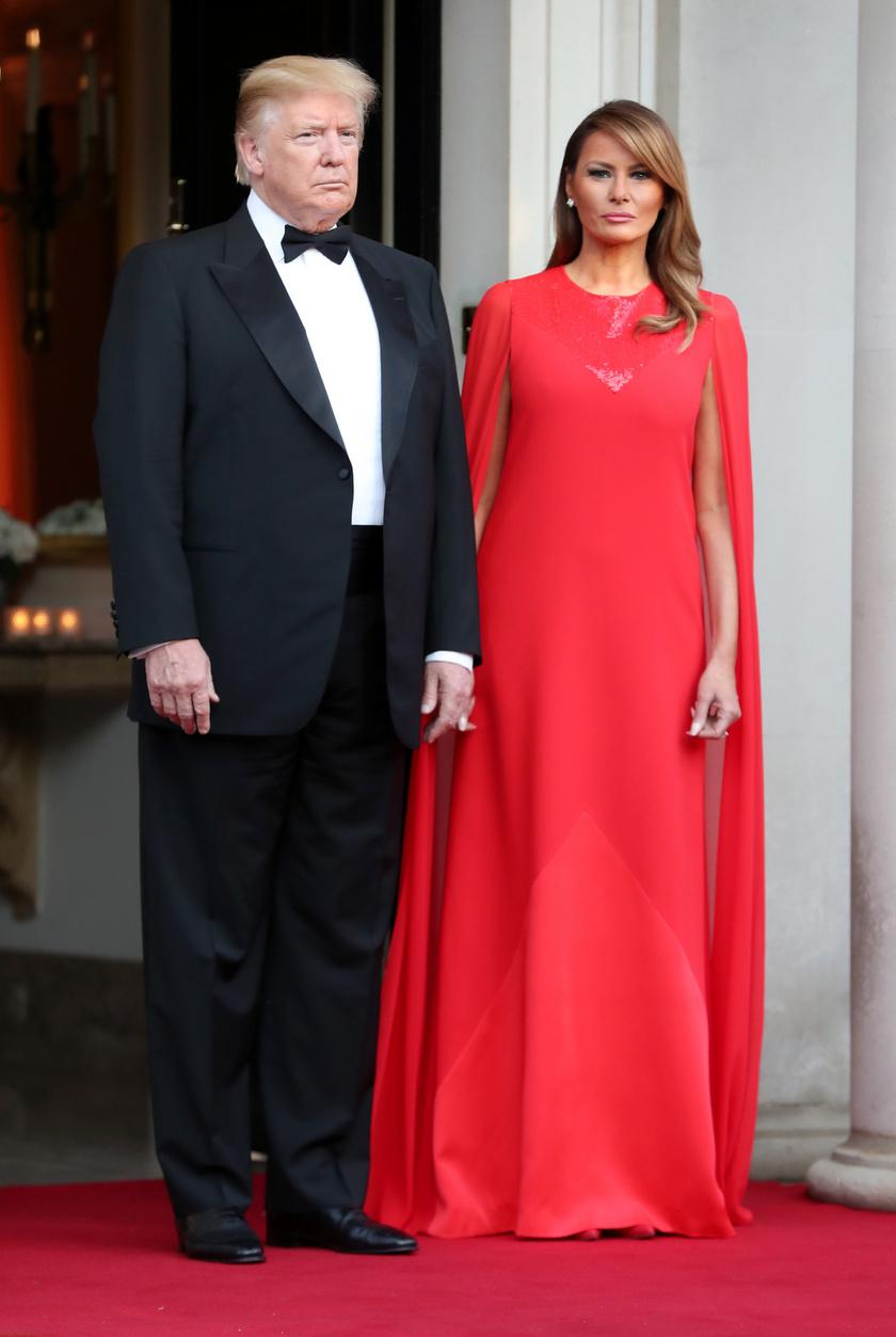 Melania Trump egy igazán különleges estélyit választott a rendezvényre.
