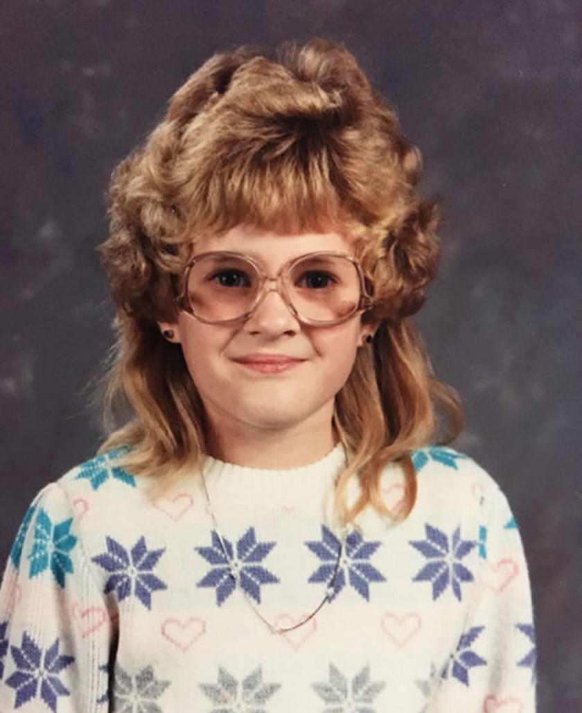 Nem a második osztály volt a képen látható kislány legjobb stílusidőszaka.