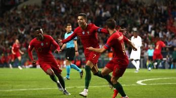 Ronaldo mesterhármasával gázoltak át Svájcon a portugálok
