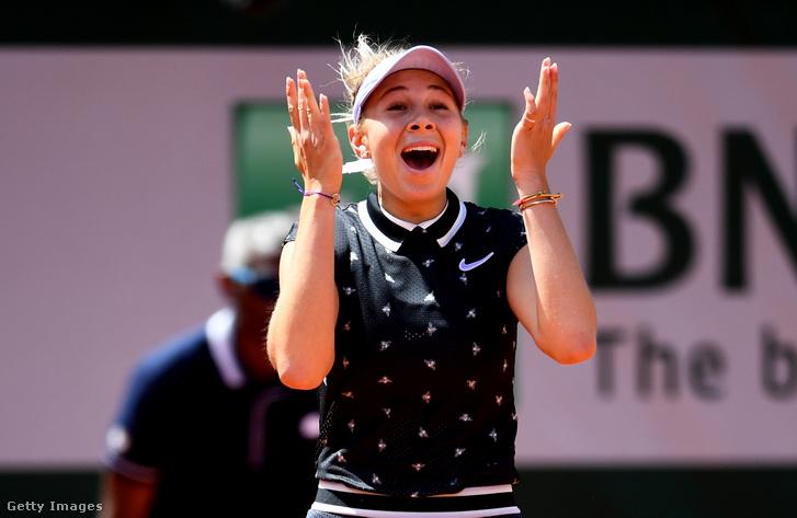 A Halepet a negyeddöntőben legyőző Amanda Anisimova