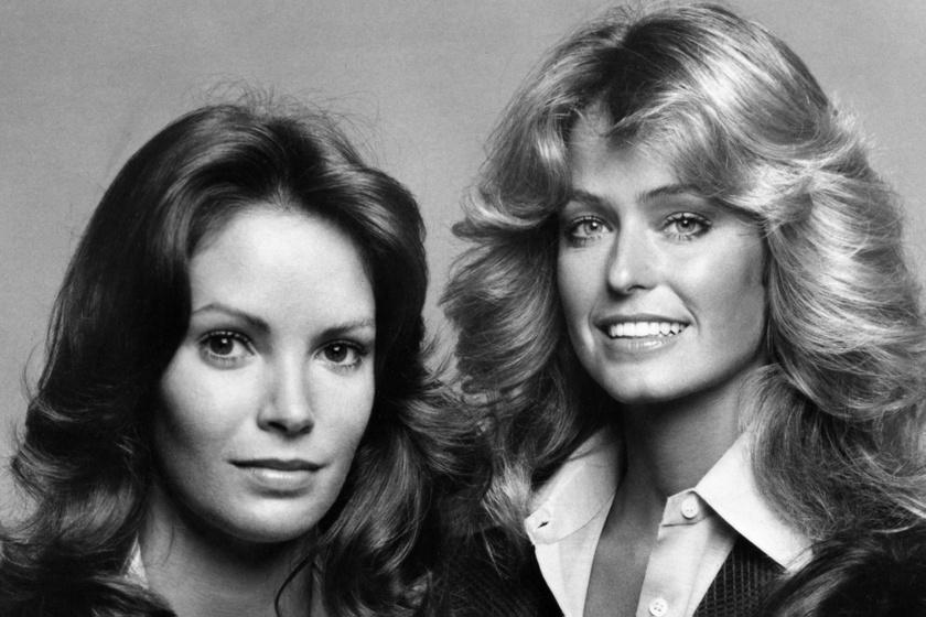 Jaclyn Smith és Farrah Fawcett a Charlie angyalais korszakban.