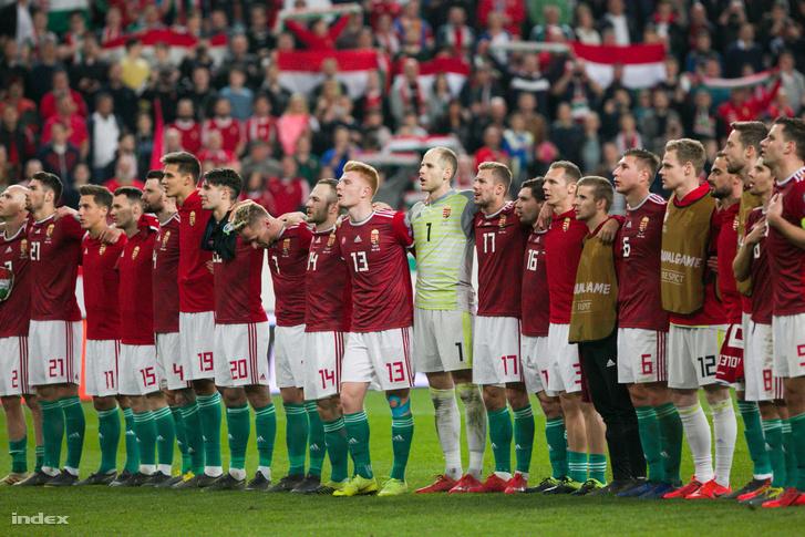 A magyar labdarúgó-válogatott 2019. március 24-én.
