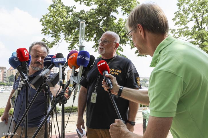 Jasenszky Nándor a Margitszigeten tartott sajtótájékoztatón 2019. június 7-én