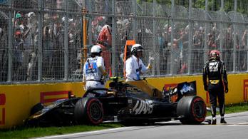 Óriási bukás a montreali F1-időmérőn, Vettelé az 1. rajthely