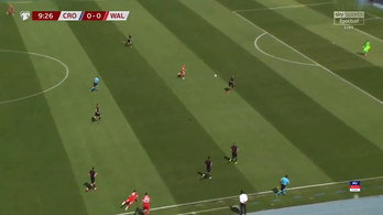 Bale egy bedobásból csinált káprázatos jelenetet a horvátok ellen