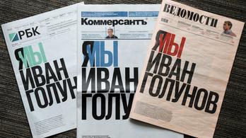 Kiállnak az orosz lapok a gyanús körülmények miatt elfogott oknyomozó újságíró mellett