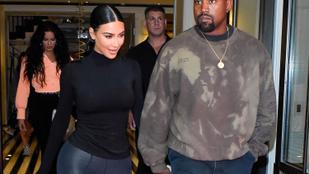 Itt az első fotó Kim Kardashian és Kanye West 4. babájáról