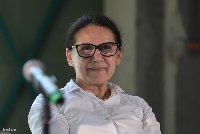 Enyedi Ildikó A feleségem története c. film sajtótájékoztatóján.