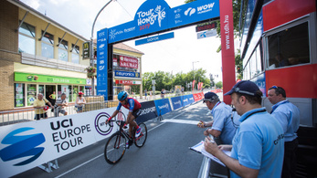 A cseh bajnok 50km/h-s átlaggal repesztett a Tour de Hongrie-n