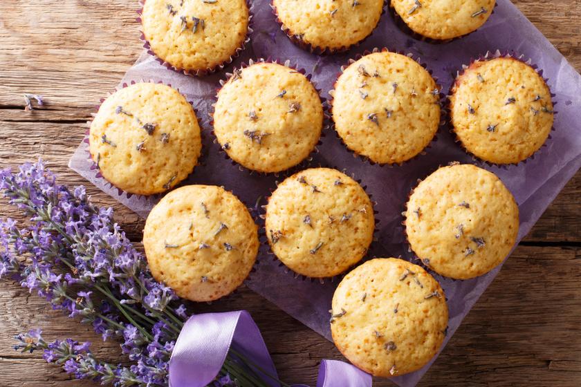 Extra finom, citromos, levendulás muffin: a joghurttól még puhább a tészta