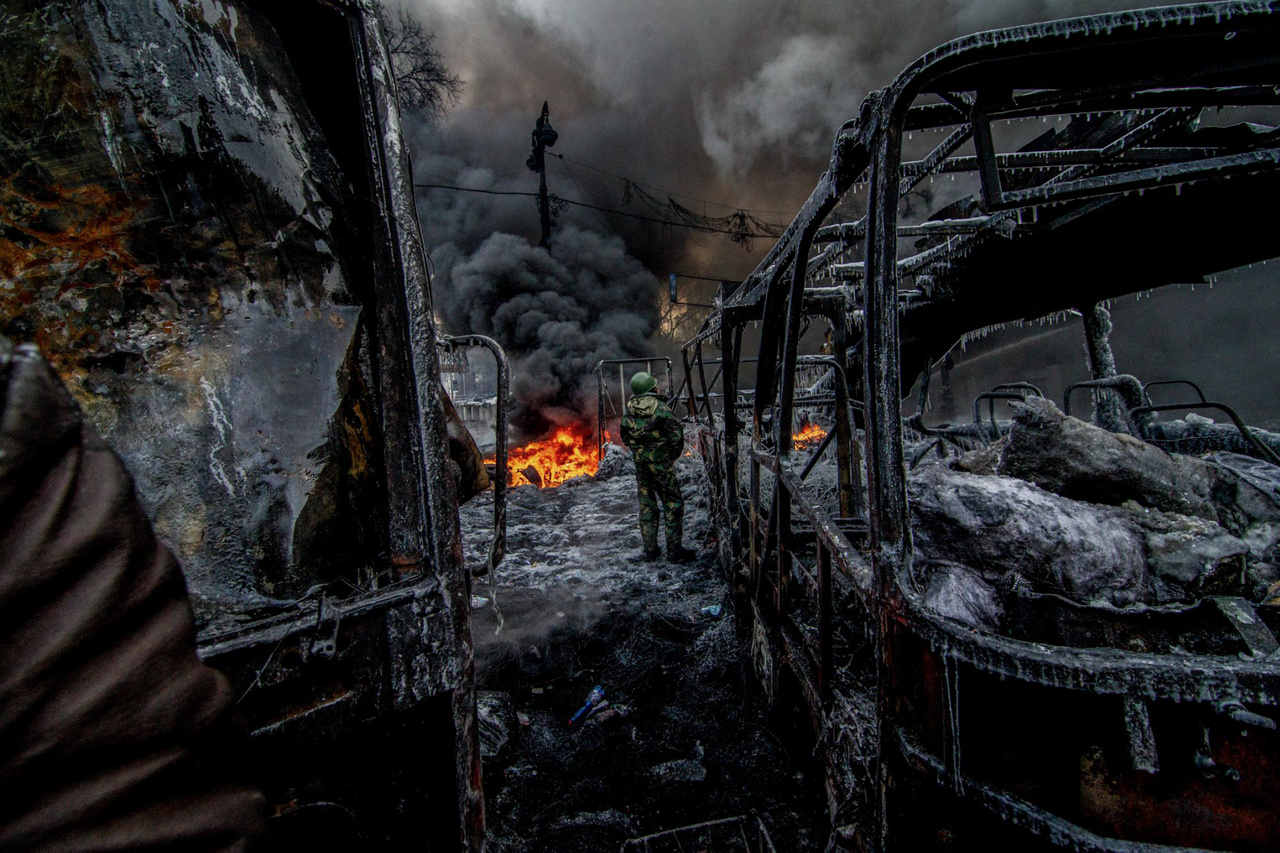 Csudai ott volt 2014-ben az ukrán polgárháború egyik kijevi összecsapásánál is.
