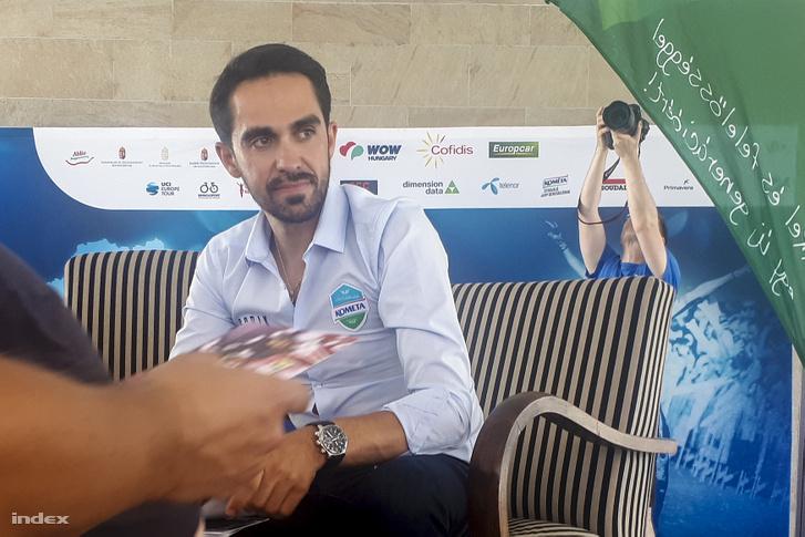Alberto Contador a Tour de Hongrie sajtótájékoztatón 2019. június 12-én