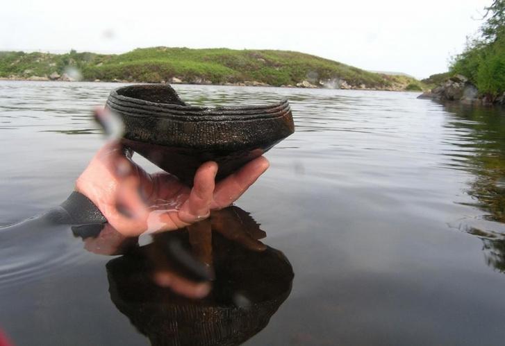 Chris Murray felvétele az általa talált edényről