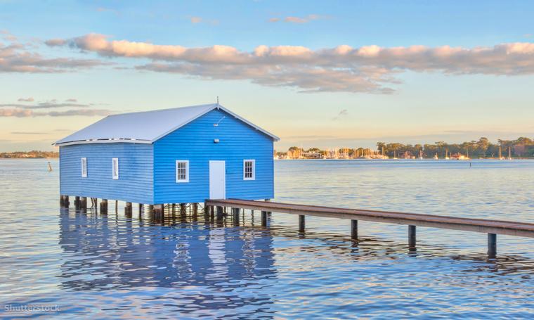 A Crawley Edge csónakház Perth-ben.