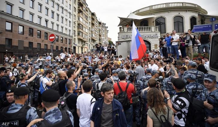 Több, mint ezer tüntető Moszkvában 2019. június 12-én