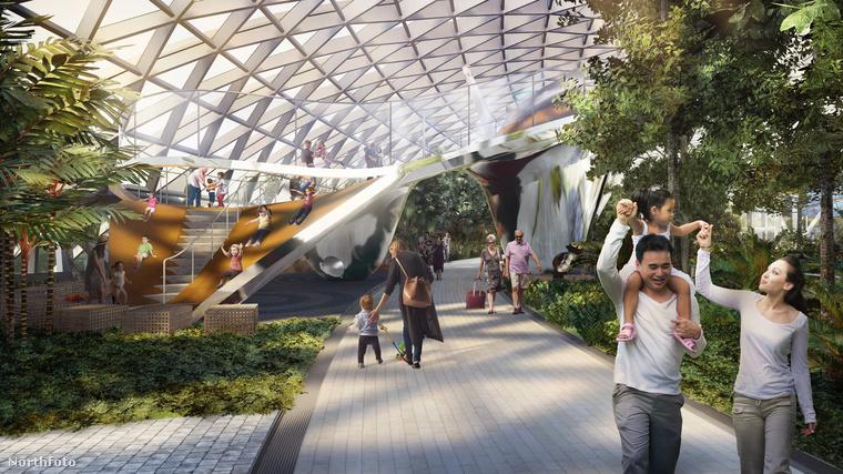 Megnyitotta kapuit a régóta áhított kalandpark, amely a  Szingapúr-Changi repülőtér utasait hivatott szórakoztatni