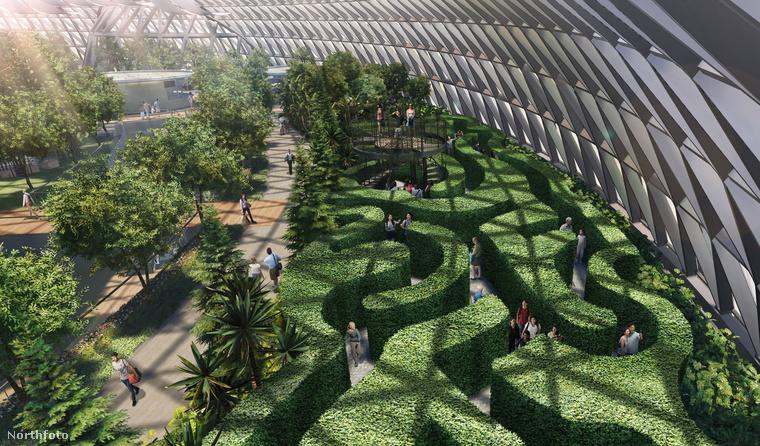 A létesítmény szerves részét képzik a telepített fák és más növények, illetve tartozik hozzá néhány labirintus is