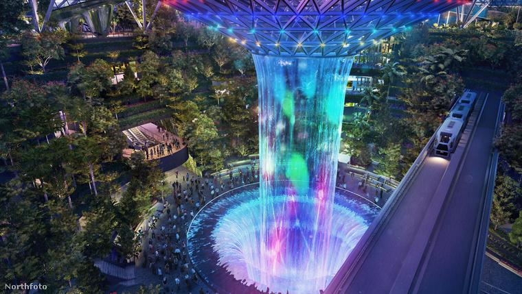 A park egyik fő attrakciója a hatalmas, színes vízesés, amely Pandora-hangulatot teremt
