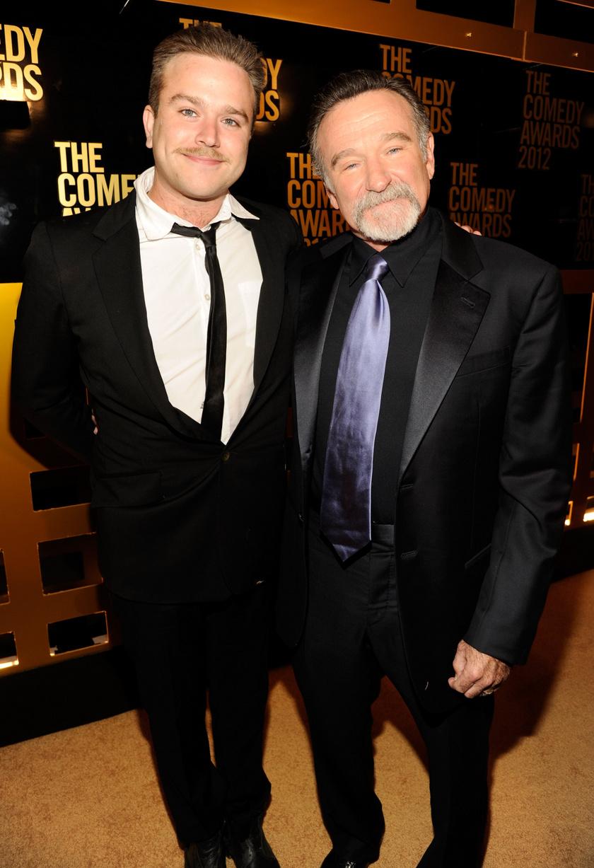 Robin Williams és fia, Zachary 2012-ben.
