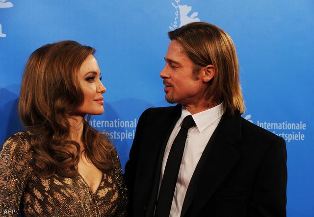 A Jolie-Pitt pár Berlinben, 2012. februárjában.