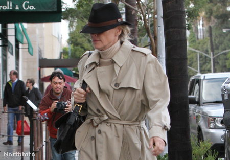 Sharon Stone Los Angelesben rossz időben