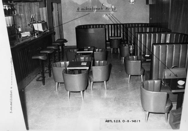 """Az """"Ámor Háza"""" objektum betechnikázásáról készített állambiztonsági fotók 1969"""