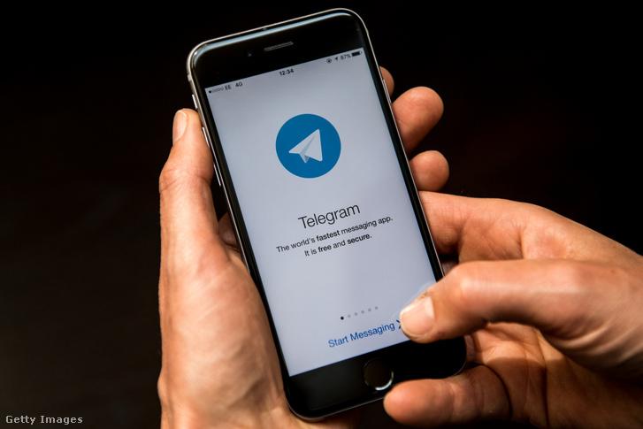 Telegram üzenetküldő app