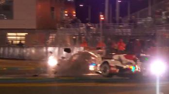 Nem tipikus ütközés Le Mans-ból, menetiránnyal szemben csattant González