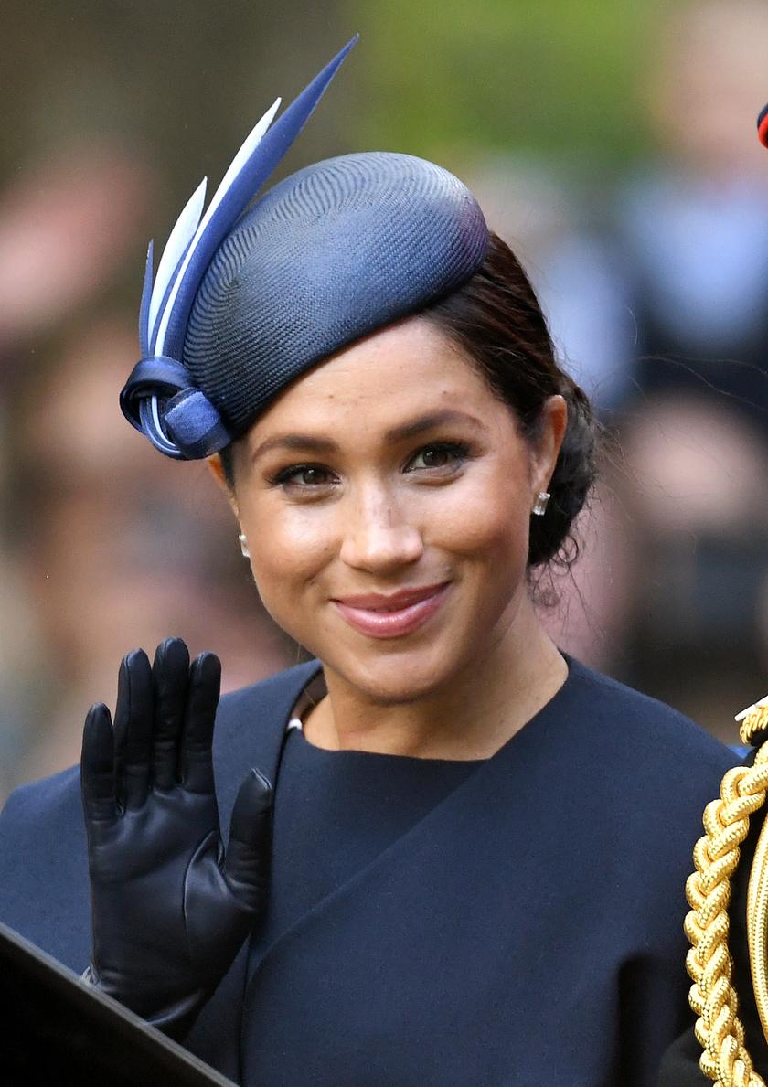 Meghan hercegné így festett az idei Trooping the Colour parádén.