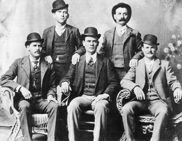 A Wild Bunch 1885-ben: William Carver, Harvey 'Kid Curry' Logan, Harry 'Sundance Kid' Langbaugh, Ben 'The Tall Texan' Kilpatrick, Robert LeRoy 'Butch Cassidy' Parker