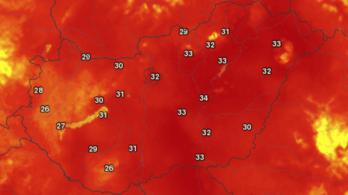 Megdőlt a budapesti melegrekord, péntekre másodfokú figyelmeztetést adtak ki az országra