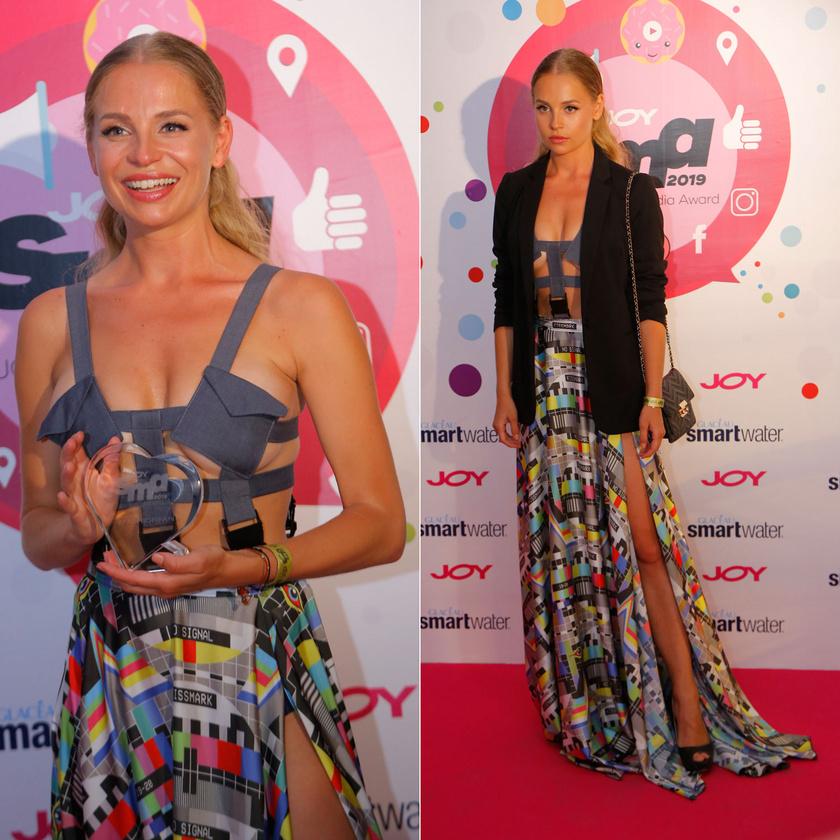 Iszak Eszti mellvillantós ruhája a harmadik JOY Social Media Awardon látott legmerészebb kreáció volt.