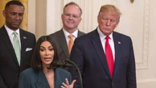 Nagyon bizarr arcot vágott Donald Trump Kim Kardashianra
