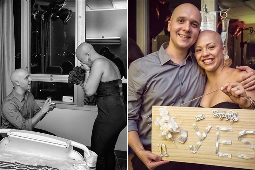 Lucas D'Onofrio és párja gimis koruk óta szeretik egymást. A lány rákos lett, ezért kemoterápiára szorult. Párja végig mellette volt, az utolsó kezelés során pedig feldíszítette az egész szobát, és megkérte a kezét. Azóta össze is házasodtak.