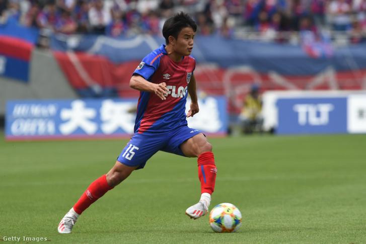 Takefusa Kubo a Tokyo FC és Oita Trinita mérkőzésen az Ajinomoto stadionban 2019. június 1-én
