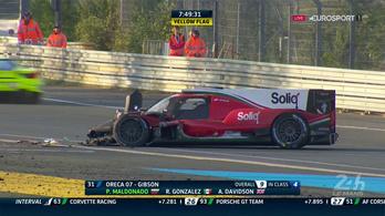 Maldonado nagyot csattant Le Mans-ban
