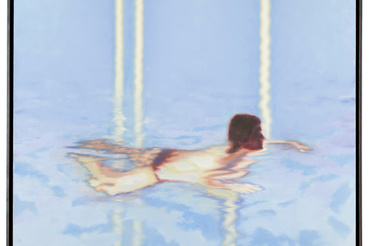Szűcs Attila: Swimming Woman with Stripes of Light (2008)