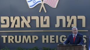 Trumpról nevezték el Izrael legújabb telepét
