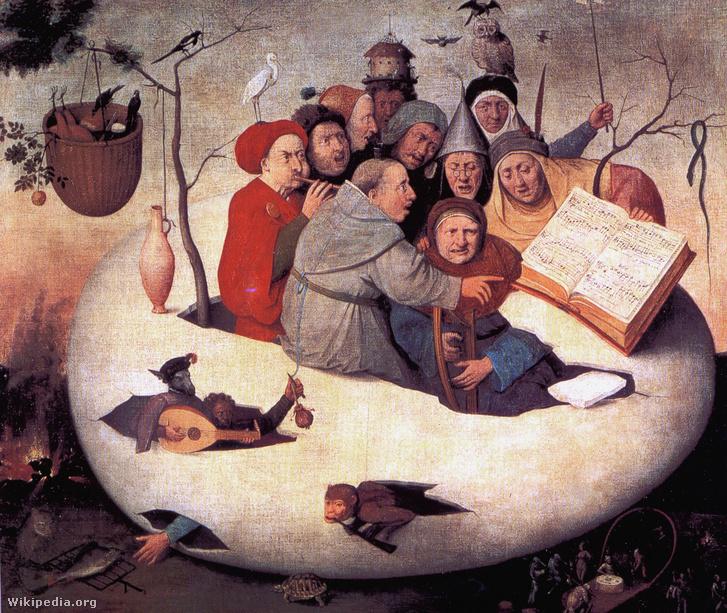 Koncert a tojásban, 1561 körül - Hieronymus Bosch ismeretlen követője