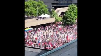 Lövés szakította félbe a Raptors győzelmi parádéját Torontóban