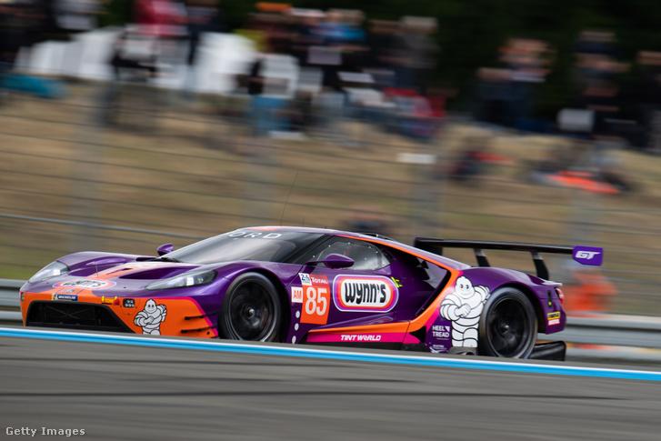 A Keating Motorsport Ford GT-je a Le Mans-i 24 órás időmérőjén