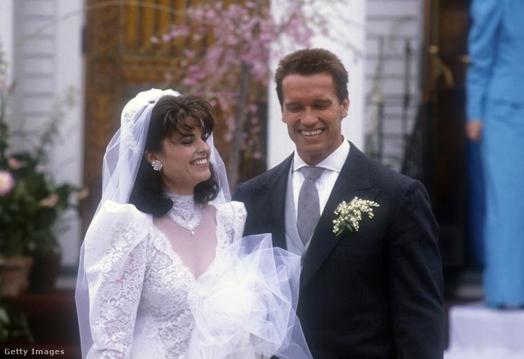 Arnold Schwarzenegger és Maria Shriver esküvőjükön