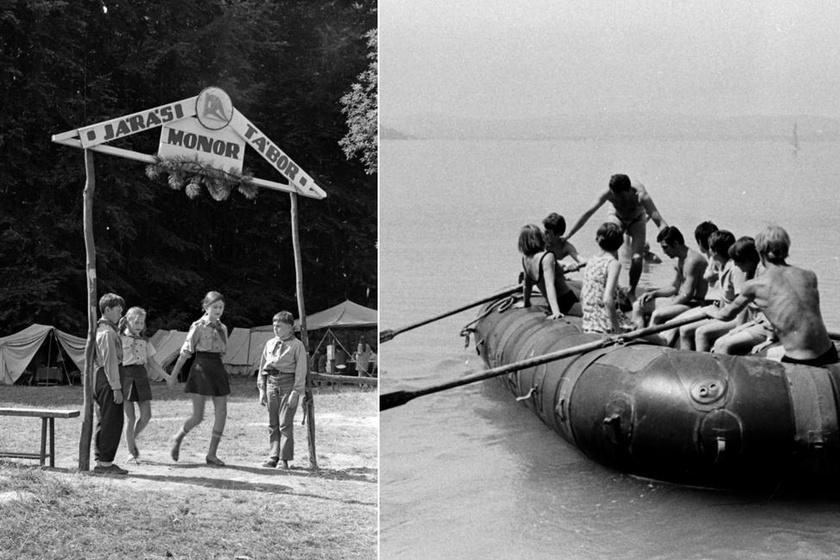Kilencen egy gumicsónakban: ilyenek voltak a hetvenes évekbeli nyári úttörőtáborok