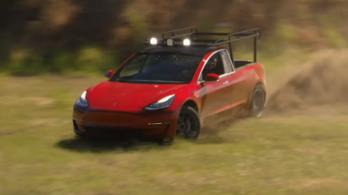 Platós kisteherautót építettek a luxusautó Teslából