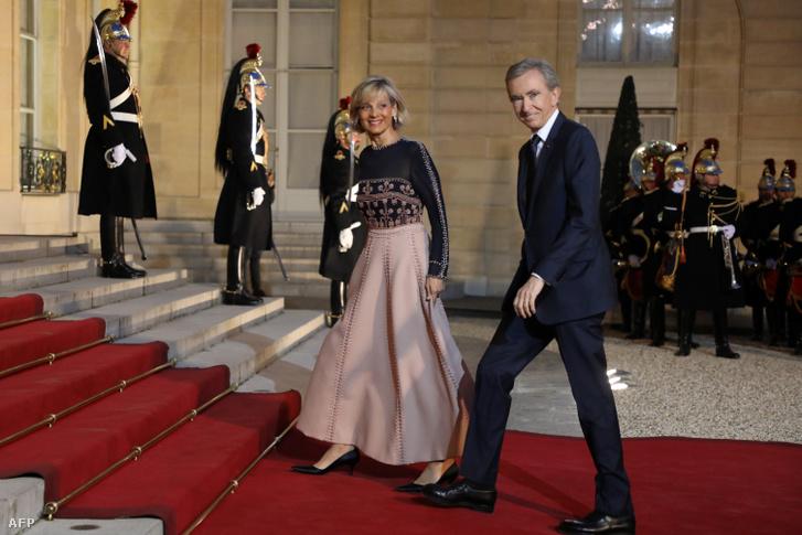 Bernard Arnault és felesége, Helene Mercier-Arnault
